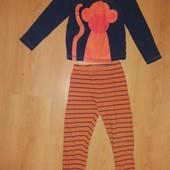 Без дефектов! Уматная хлопковая пижамка!4-5 л и р 104-110 см