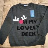 Классный новогодний свитерок Lupilu на мальчика 4-6лет