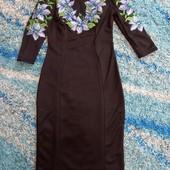 Суперакція.остання.вишита чорна сукня на французькому трикотажі
