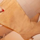 Замшевые сапоги в хорошем состоянии, по стельке 24,5см