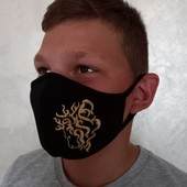 Дуже крута і зручна високоякісна фабрична трикотажна двошарова маска