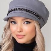 Красивая кепи, шапка,берет,ушки на флисе