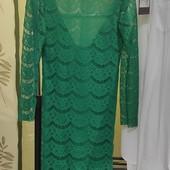 Гипюровое платье с очень красивой спинкой!
