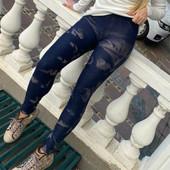 Женские лосины под джинсы с накладными карманами. размер 42-46.