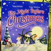 Новогодняя книга на английском для малышей. плотные картонные страницы.