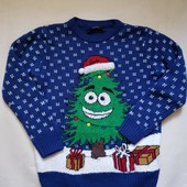 Новогодний свитер George 7-8л