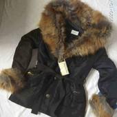 Куртка с шикарным капюшоном,р.44-46