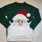 Теплый новогодний свитер George 5-6л