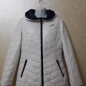 Куртка-пуховик двусторонний(белый/синий), размер S/M