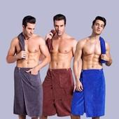 Полотенце-килт для мужчин на резинке (микрофибра), 150*65см, лот 1шт. Турция. Отличного качества!