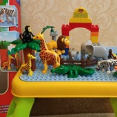 конструктор jixin «ферма» на столике, большие детали