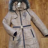 """❤Шикарное дорогое зимнее пальто """"Nestta"""" на меху, наполн.тинсулейт, с капюшоном. Р.42.Качество!❤"""