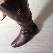 Зимние кожаные сапоги р. 38-39