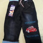 Тепленькі джинси махра на 2-3 роки