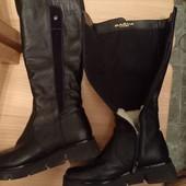 Зимние кожаные сапоги 36 размер