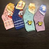 Комплект детских махровых носочков для девочек. Бесплатная доставка укр почтой
