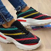 Хит! Дышащие кроссовки Fila на шнуровке на платформе.37-23.5.