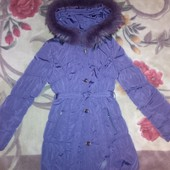 Зимняя куртка для девочки Black&Red, размер М.