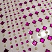 Наклейки декоративные стразы кристаллы-жемчужинки. Лот фото 1. .