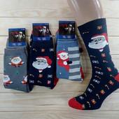 =Лот 2 пары= Размер 42-45.Махровые новогодние носки любимым мужчинам. Качество супер!