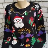 Новогодний свитер женский, р. L