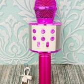 Караоке - микрофон Wster WS-858 беспроводной| Ручная караоке система| Мобильный караоке-микрофон |