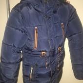 Куртка зимняя для мальчика, на 9-10 лет, на рост ок.150 см