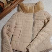 ❤️Colin's Вьетнам❤️фирменная супер стильная теплая куртка высокий ворот,модный кремовый цвет М
