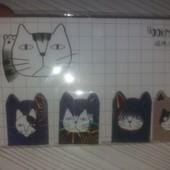 Магнитные забавные закладки Коты-это отличный презент в дневник,книгу,ежедневник.4 шт..