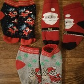 Новогодние носочки детские теплые 3 шт.