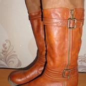 Зимние кожаные сапоги, размер 37 - стельке 24 см