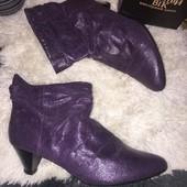 Лавандовые фиолетовые ботинки ботильоны демисезонные размер 40 стелька 26 Centro