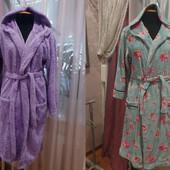 Махровые яркие халаты с капюшоном и без,р. 44-50, смотрите замеры. Один на выбор