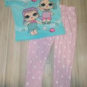 Пижама хлопок для девочек 7-8лет замеры на