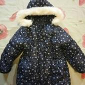 Зимний комплект ( комбинезон )для девочки 3-5 лет