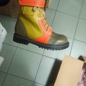 Новые зимние ботинки из натуральной кожи р. 28 - 18.5см