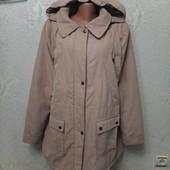 Классная мягенькая тепленькая нежная стеганная куртка деми р.20(54-56-58)пог66