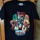 Коттоновая футболка Skyanders giants 8-10 лет,cиняя,сост.новой
