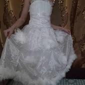 Стоп!!! Красивое белое платье на утренник в садик или школу!