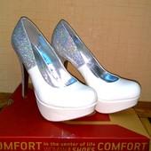 Собирайте мои лоты! Новые! Свадебные туфли! Размер 38,5 - по стельке 25 см.