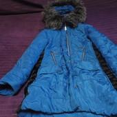 Классное и очень теплое зимнее пальто на девочку 9-10 лет!
