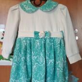 Красивое платье для девочки.2_3 года