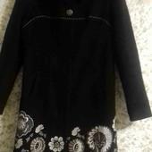 Женское элегантное тёплое пальто на осень, тёплую зиму 48 размера