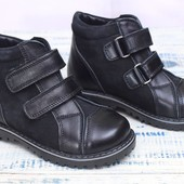 Стильные качественные ботинки из натуральной кожи и нубука! Зима
