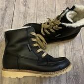 Кожаные зимние ботинки Bundgaard 31 размер стелька 19 см , утеплитель шерсть .