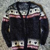 L55.Розкішний вязаний кардиган травка Esmara пЩільний!Рекомендую!