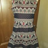 Платье в новогоднем стиле 14-15лет размер xs/a