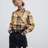 Рубашка в клетку с длинными рукавами New Look