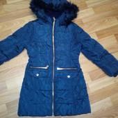 Тёплое пальто/ курточка для девочки на 7-8+ лет.