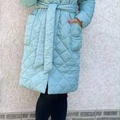 Классное стеганное пальтишко, пальто, 42-44, 46-48, 50-52 рр, 3 цвета!